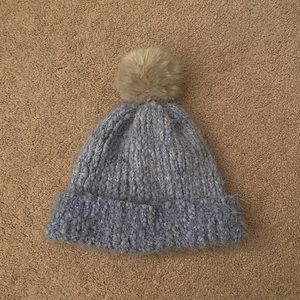 Crocheted Beanie with Pompom